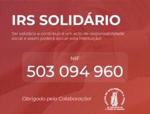 IRS Solidário – Contamos com o seu apoio!