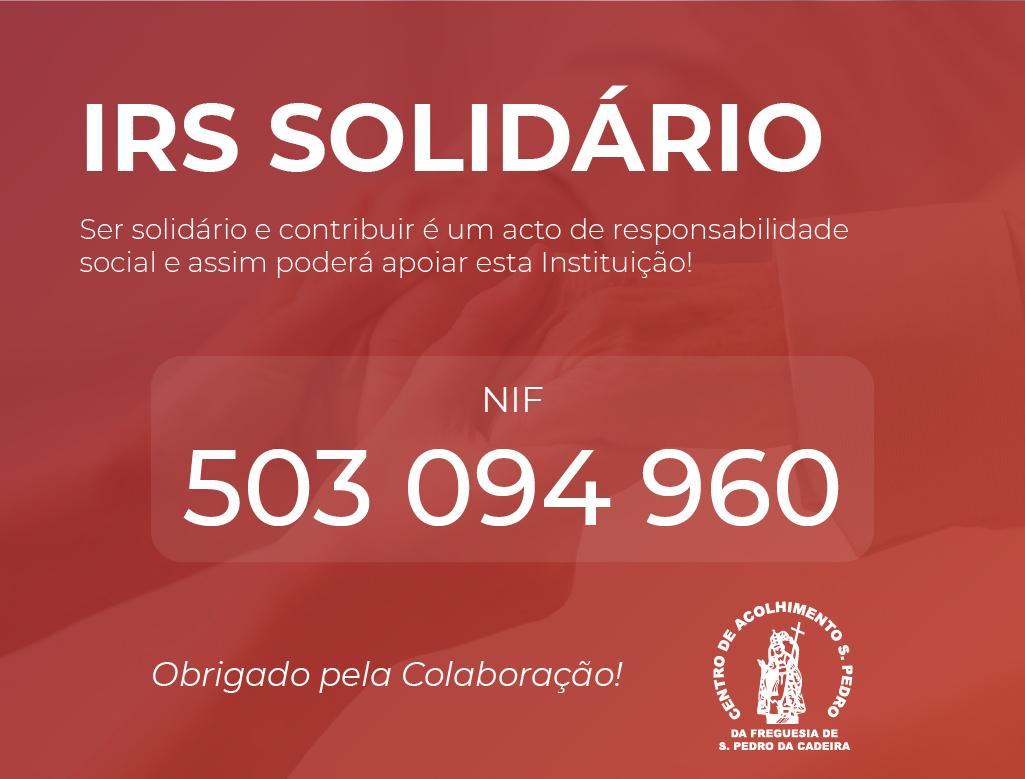 Read more about the article IRS Solidário – Contamos com o seu apoio!