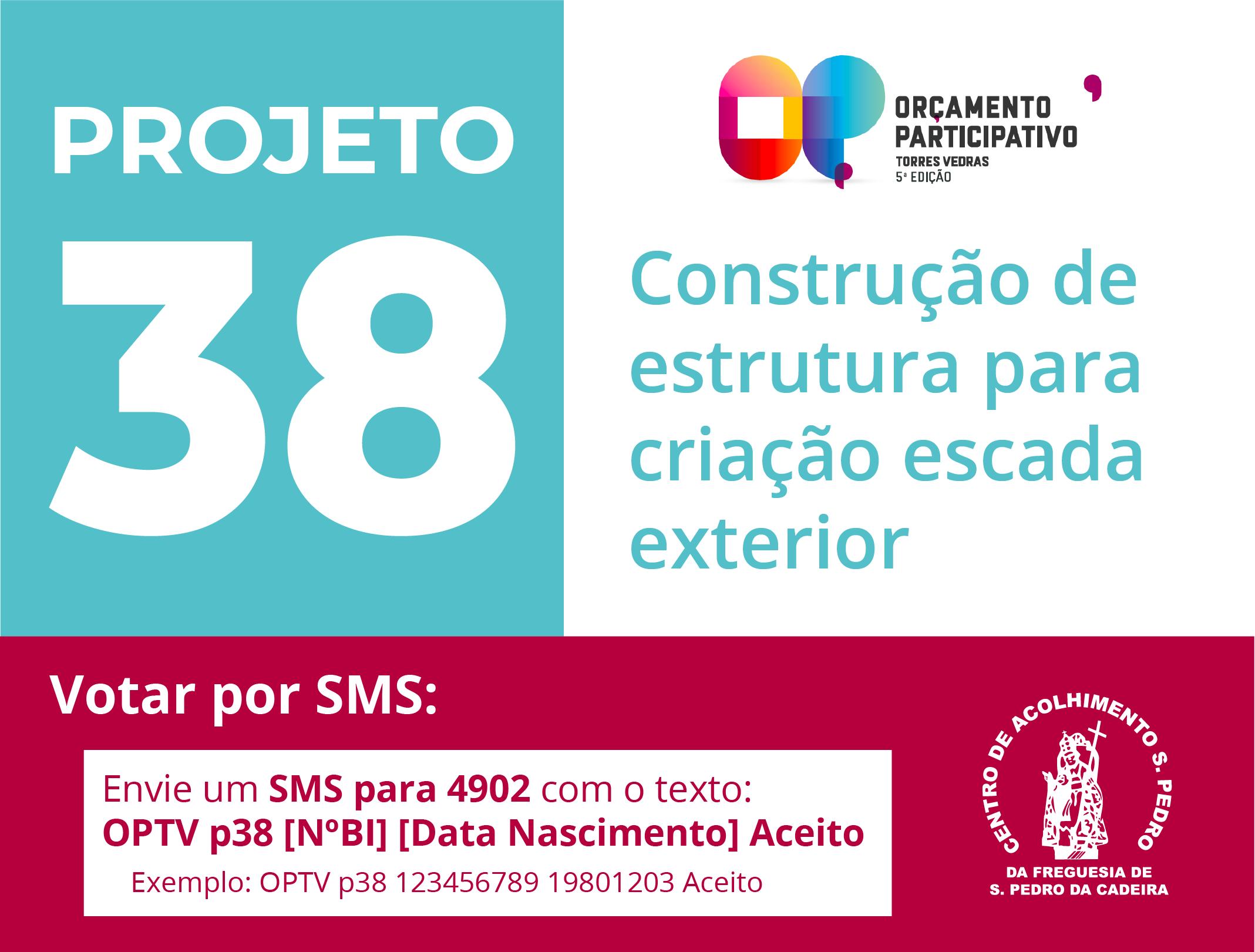 Read more about the article A partir de hoje, vote no Projeto 38!